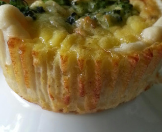 Mini Quiche mit Brokkoli