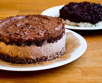 Birthday Cake: raw chocolate fancy cake