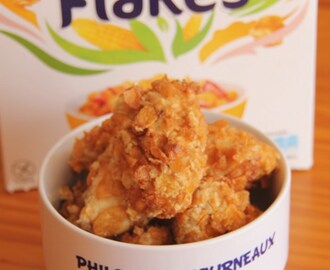 Nuggets de poulet aux flocons d'avoine & corn flakes