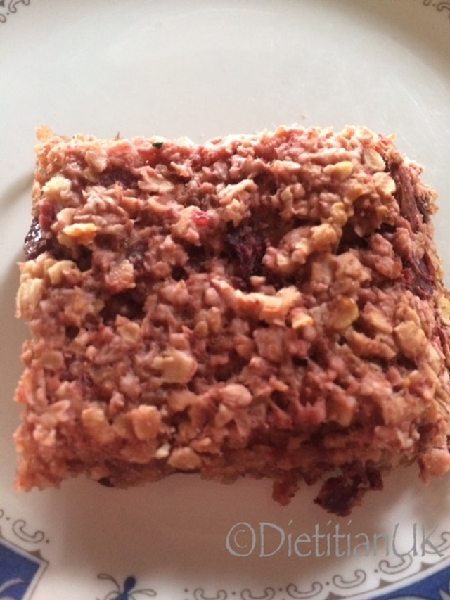 Plum and Ginger Flapjack