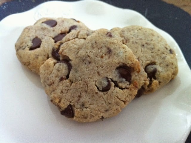 Gluten free chocolate chip cookies, no egg either