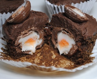 Chocolate Creme Egg Cupcakes recipe