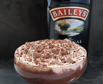 Luxurious Baileys triple chocolate trifle