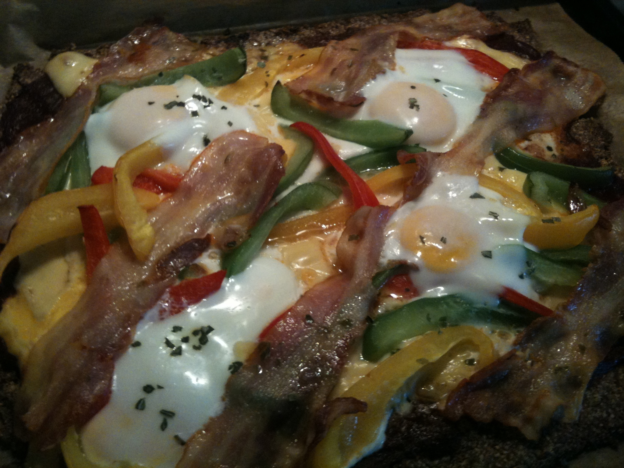 Low Carb Pizza - Variante mit Paleo Boden