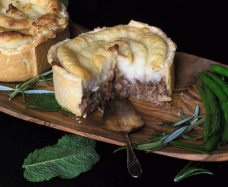 Minted lamb Pie with Mashed Potato Topping