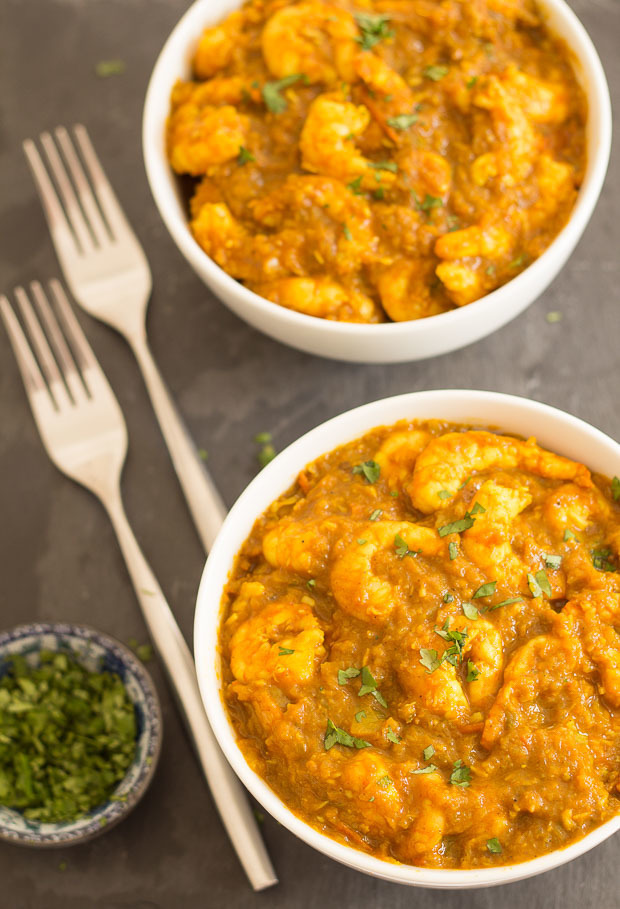 Mild South Indian Prawn Curry