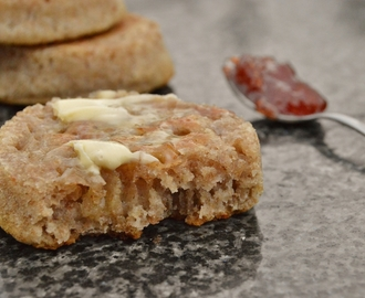Easy wholemeal sourdough crumpets