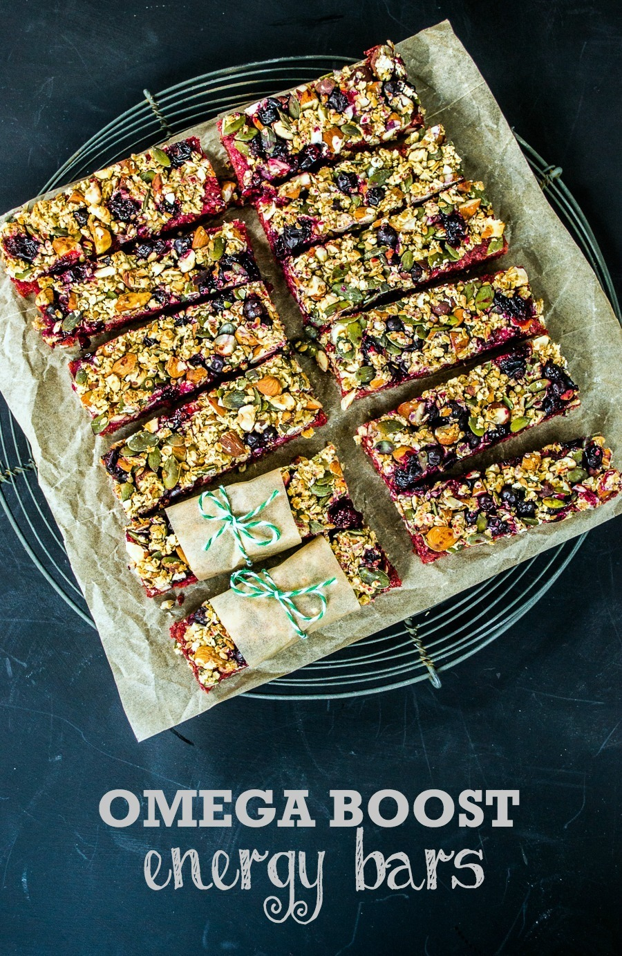 Recipe: Omega Boost Beetroot & Blackcurrant Energy Bars