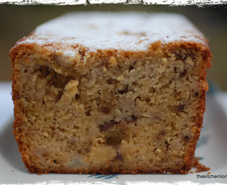 Pear Semolina Loaf Cake with Pear Butter and Walnuts