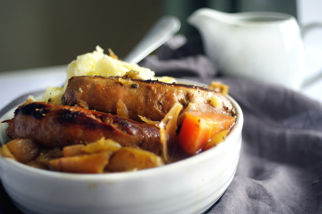 Cider, Apple and Sausage Casserole
