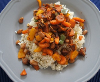 Middle Eastern spiced bean and date ragout