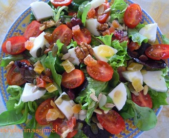 Ensalada con frutos secos.