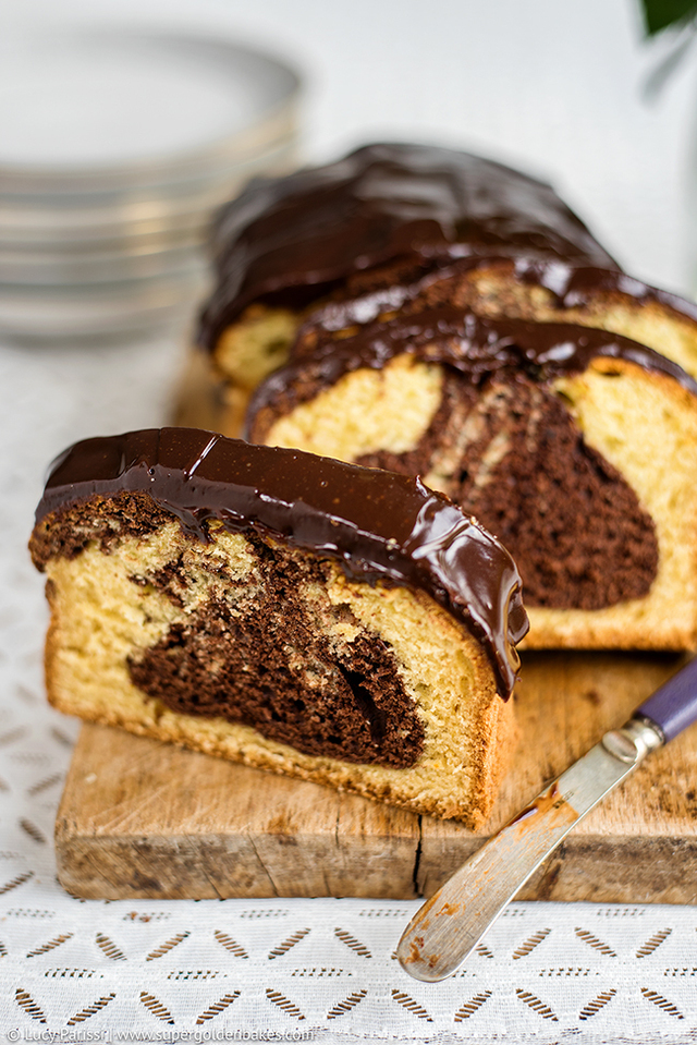 Blood Orange Chocolate Marble Cake