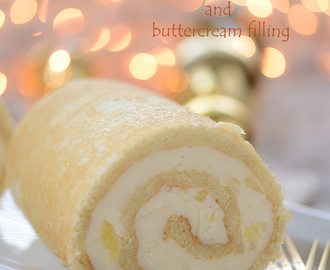 Swiss roll...with pineapple & butter-cream filling