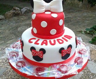 Tarta Minnie Mouse para Claudia
