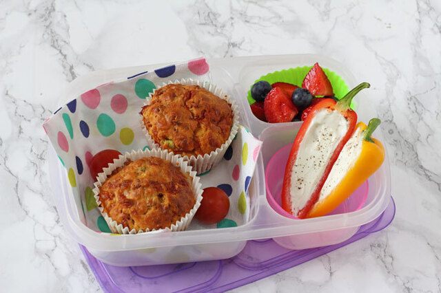 Pizza Lunchbox Muffins