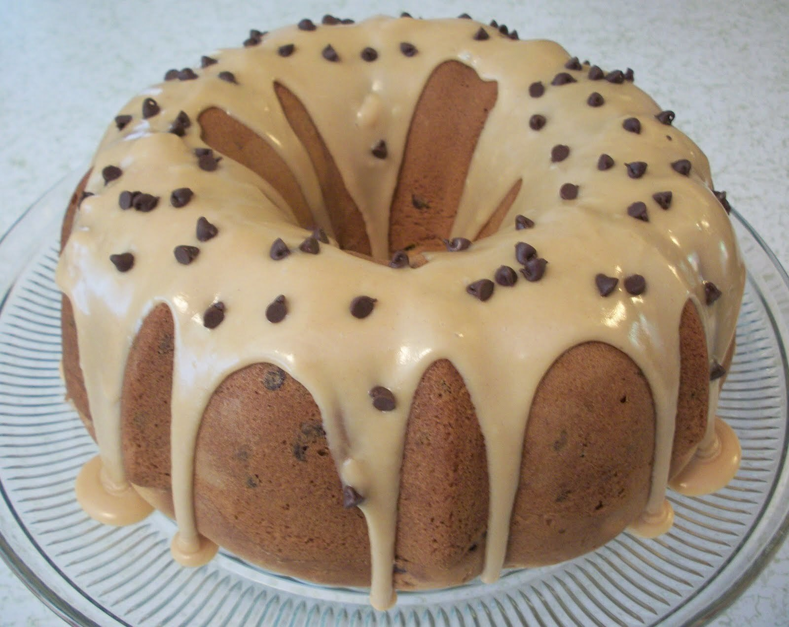 Peanut Butter Chocolate Chip Bundt Cake