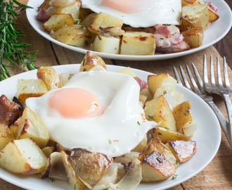 Brunch Potatoes with Bacon & Eggs