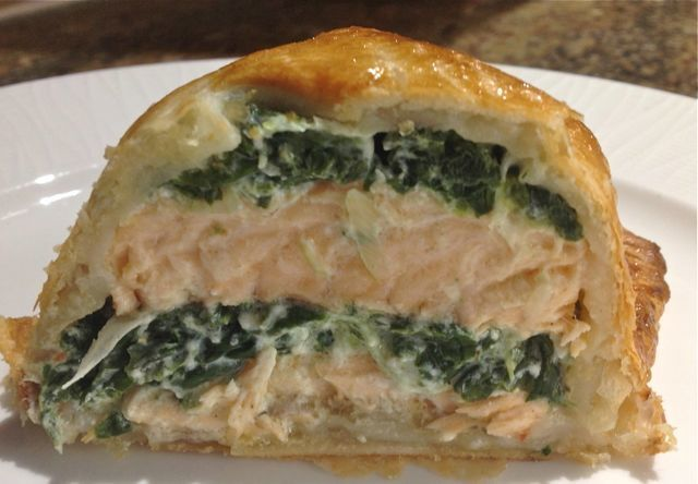 CALORIES IN SALMON EN  CROUTE