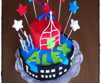 "Tarta Fondant ""Spiderman"""