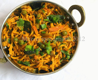 Vegetable Kothu Noodles / Spicy Indian Noodles