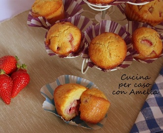 Muffin alle fragole, ricetta dolce