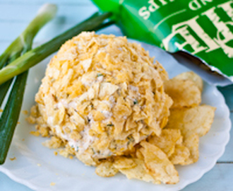 Potato Chip Crusted Jalapeno Ranch Cheeseball