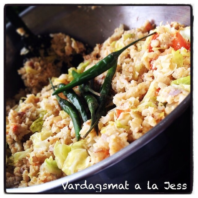 Vegetariskt Fried Rice