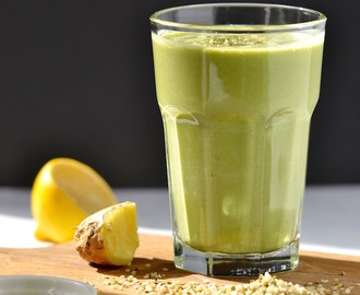 Lemon, Ginger & Green Tea Smoothie + Optimum 9200 Blender Giveaway