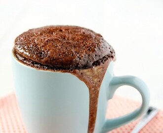Chocolate Peanut Butter Mug Cake