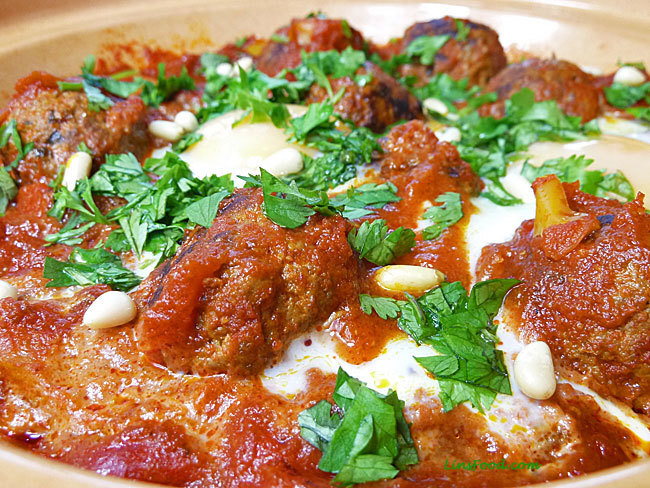 Moroccan Meatballs with Eggs in Tomato Sauce