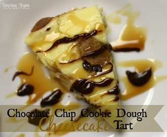 Chocolate Chip Cookie Dough Cheesecake Tart {Gluten Free}
