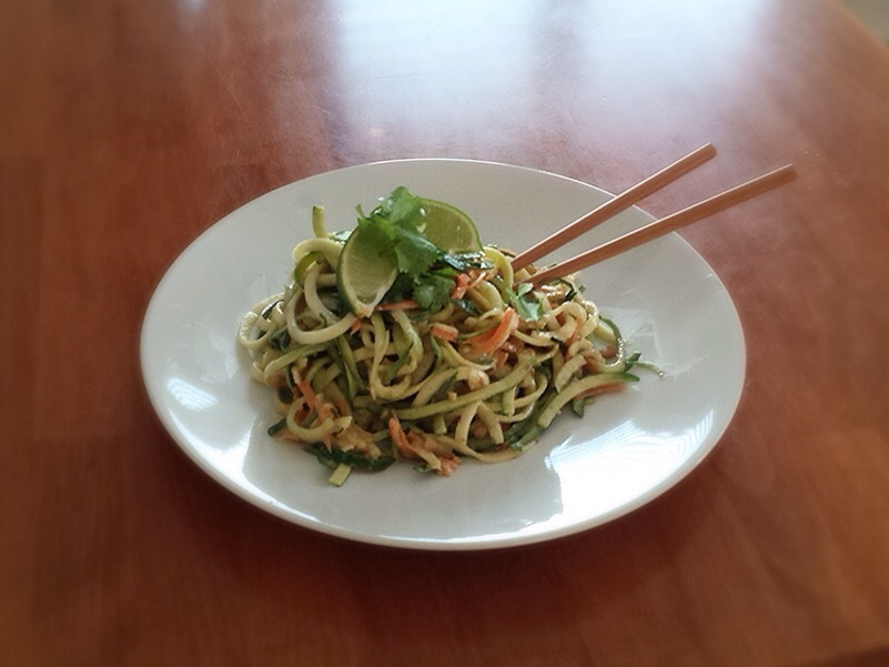 Courgetti Pad Thai Recipe with Satay Sauce
