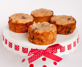 Apple Cakes with Toffee & Dried Cherries