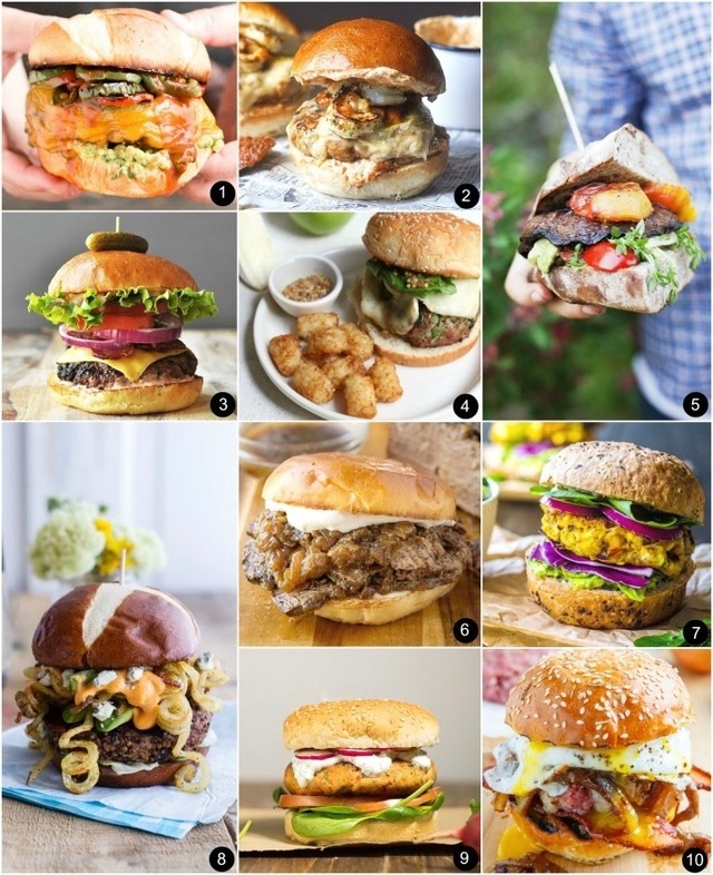 10 Burgers for Father's Day