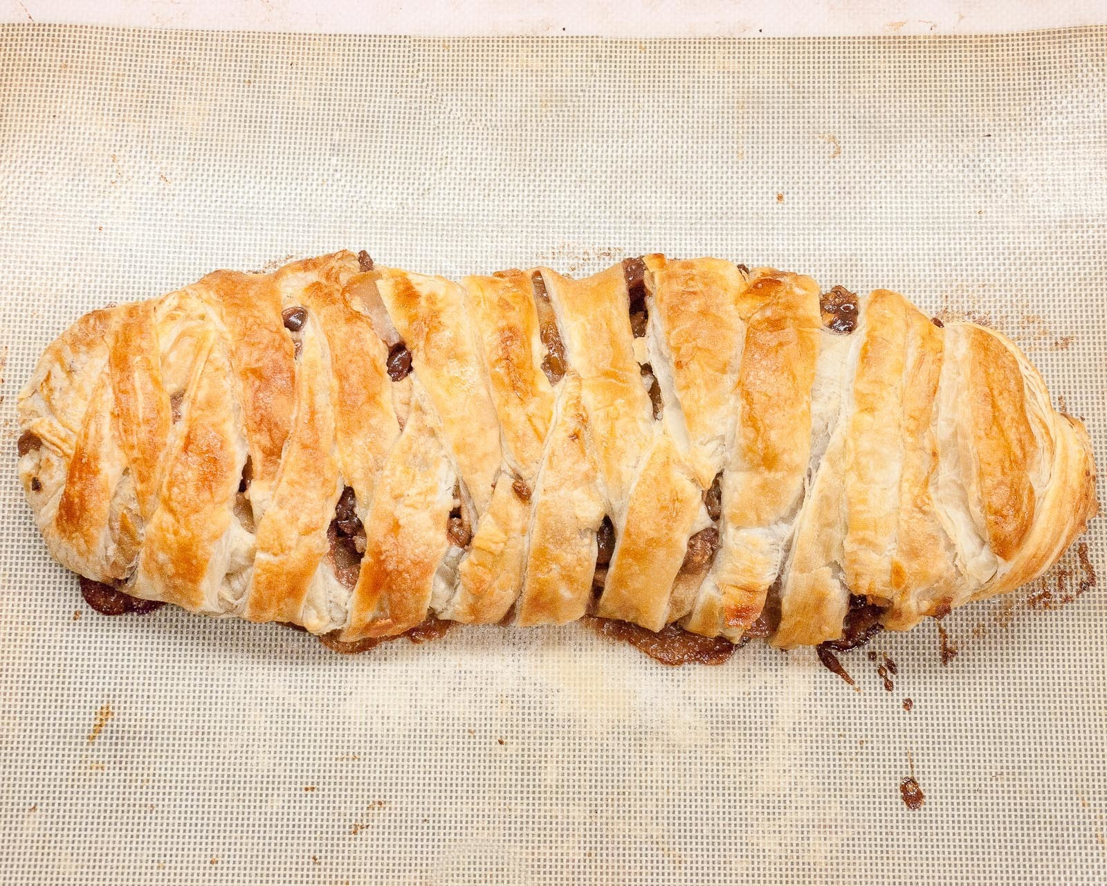 Apple Cranberry Bourbon Strudel