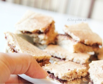 Healthy protein cinnamon roll squares