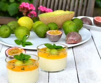 Dessert from Ipanema - Guaven-Limetten-Mousse mit Passionsfrucht-Gelee