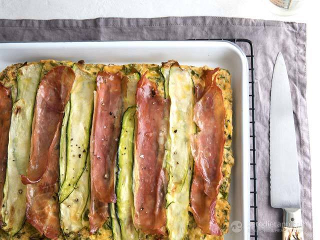 Keto Ham, Cheese & Zucchini Breakfast Bake