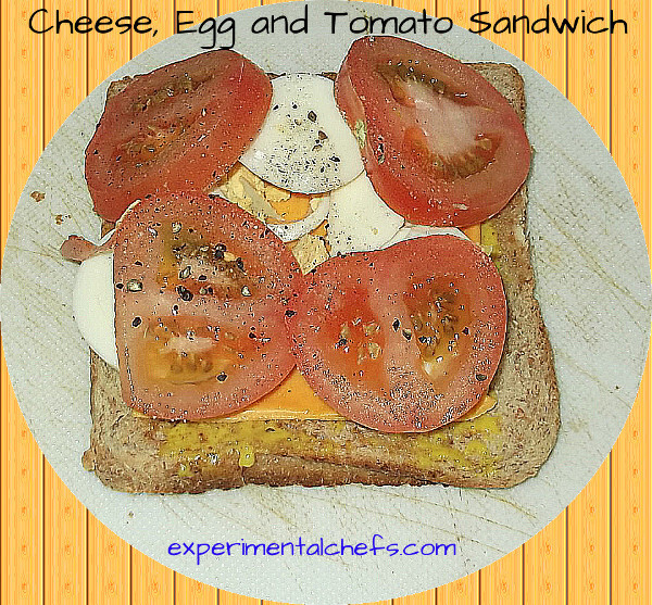 Cheese, Egg and Tomato Sandwich