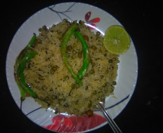 Mutter pulav rice- Special Lunch/  https://chhayaonline.com/2018/03/14/fried-mint-rice-recipe-tasty/