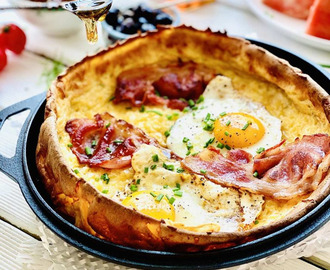 Bacon and Eggs Dutch Baby Pancakes