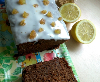 Double ginger and lemon iced loaf