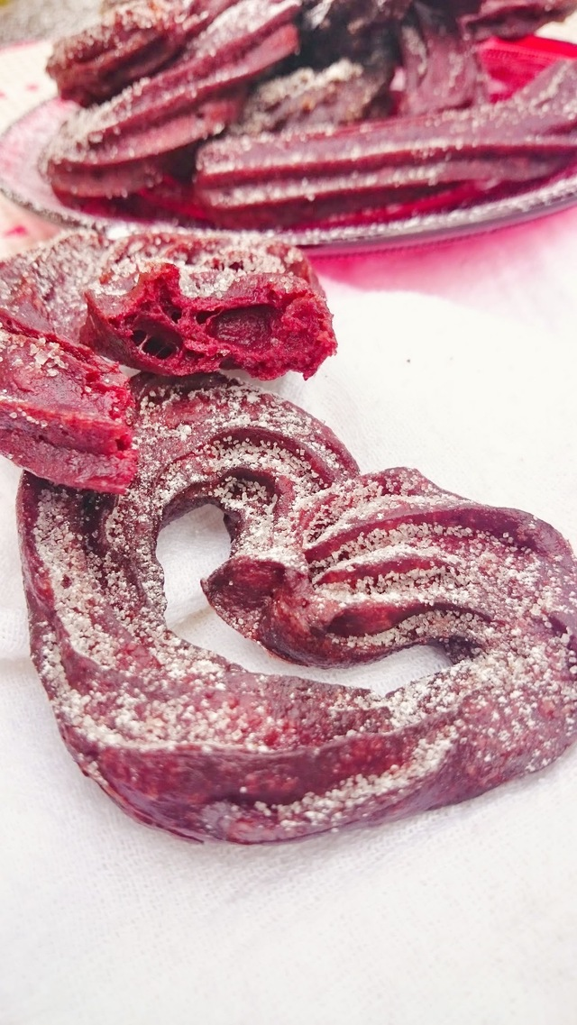 Churros de Red Velvet.