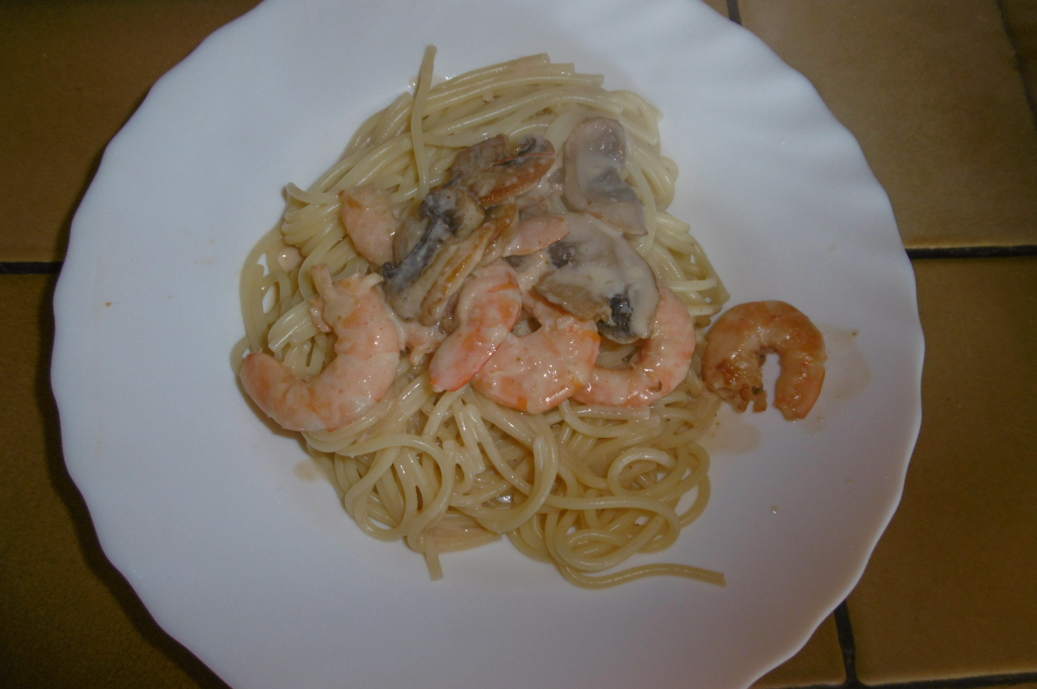 Madhouse recipe : 10-Minute Creamy Prawn & Mushroom Pasta