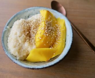 Thaise sticky rice mango