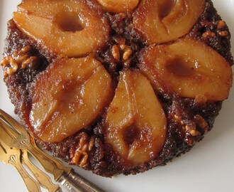 Upside-down Pear and Ginger Cake