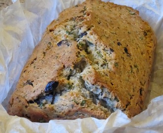 Olive Loaf with fresh herbs and white cheese/Zeytinli Kek