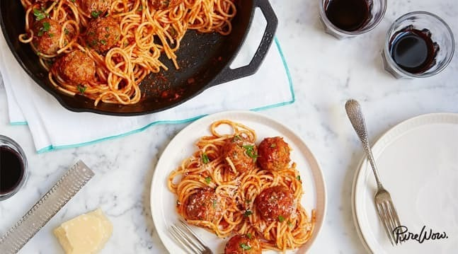 One-Pan Spaghetti and Meatballs