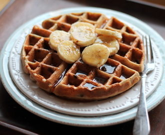 Banana Chocolate Chip Quinoa Flour Waffles